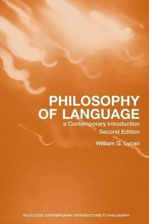 Cover of Philosophy of Language