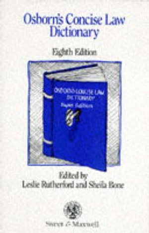 Cover of Osborn's Concise Law Dictionary