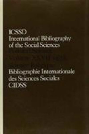 IBSS : Political Science: 1978 Volume 27 - International Committee for Social Science Information and Documentation