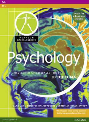 Cover of Pearson Baccalaureate: Psychology for the IB Diploma