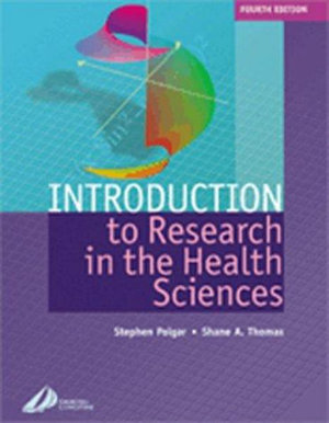 Cover of Introduction to Research in the Health Sciences