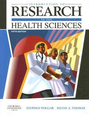 Cover of Introduction To Research In The Health Sciences 5th Edition