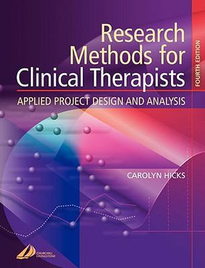 Cover of Research Methods for Clinical Therapists