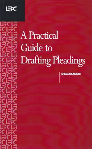 Cover of A Practical Guide to Drafting Pleadings