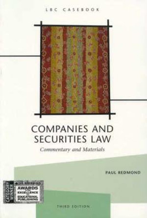 Cover of Companies and Securities Law