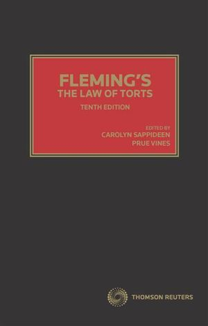 Cover of Fleming's the Law of Torts