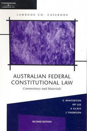 Cover of Australian Federal Constitutional Law