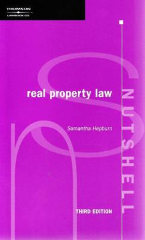 Cover of Nutshell - Real Property Law