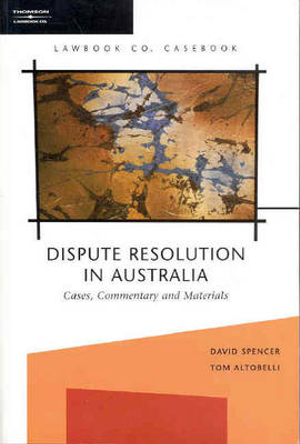 Cover of Dispute Resolution in Australia