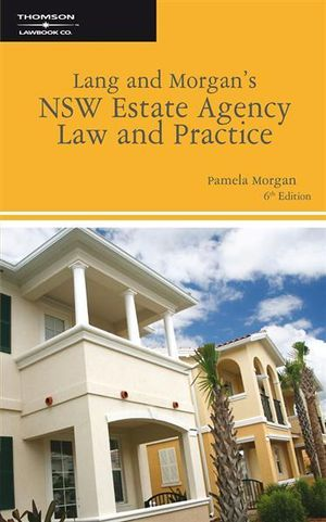 Cover of Lang and Morgan's NSW Estate Agency Law and Practice