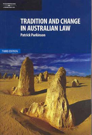 Cover of Tradition and Change in Australian Law