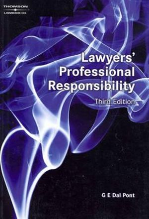 Cover of Lawyers' Professional Responsibility in Australia and New Zealand