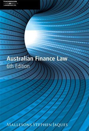 Cover of Australian Finance Law