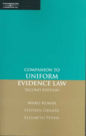 Cover of Companion to Uniform Evidence Law