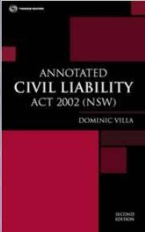 Cover of Annotated Civil Liability Act New South Wales