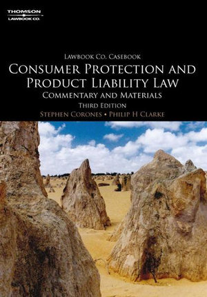 Cover of Consumer Protection and Product Liability Law