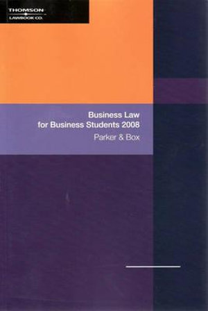 Cover of Business Law for Business Students 2008
