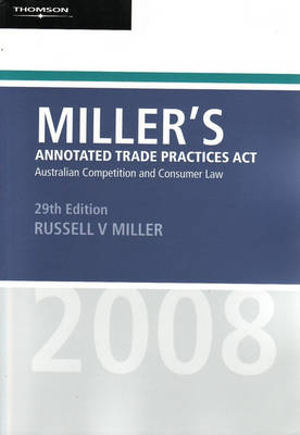 Cover of Miller's Annotated Trade Practices Act