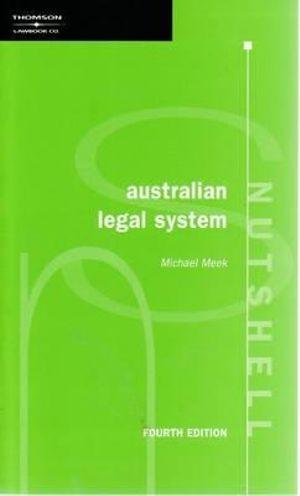Cover of Australian legal system