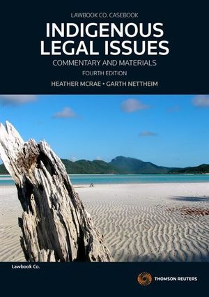 Cover of Indigenous Legal Issues