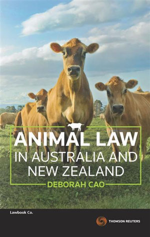 Cover of Animal Law in Australia and New Zealand