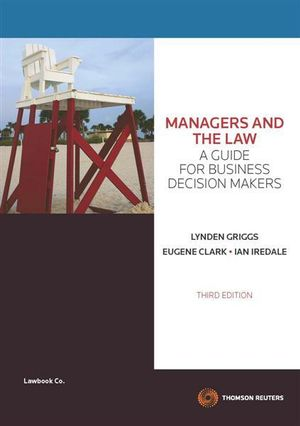 Cover of Managers and the Law