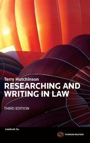 Cover of Researching and Writing in Law