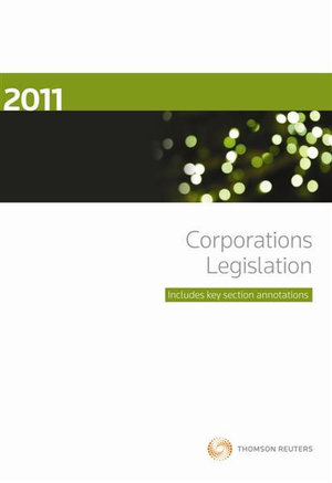 Cover of 2011 Corporations Legislation