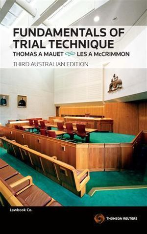 Cover of Fundamentals of Trial Techniques