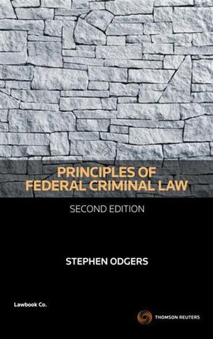 Cover of Principles of Federal Criminal Law