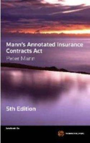 Cover of Mann's Annotated Insurance Contracts Act