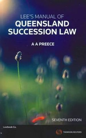 Cover of Lee's Manual of Queensland Succession Law