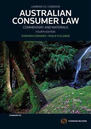 Cover of The Australian Consumer Law