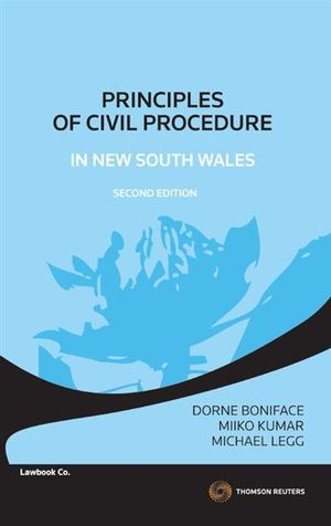 Cover of Principles of Civil Procedure in New South Wales