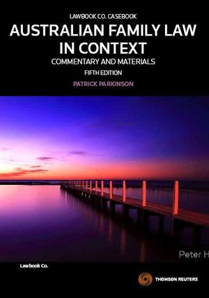 Cover of Australian Family Law in Context