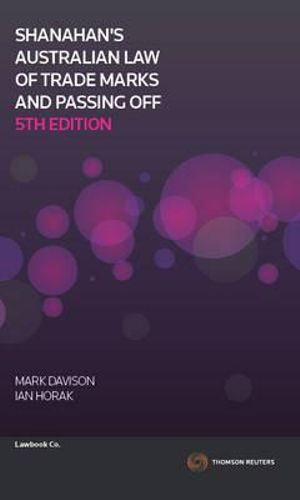 Cover of Shanahan's Australian Law of Trade Marks and Passing Off