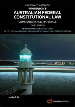Cover of Winterton's Australian Federal Constitutional Law
