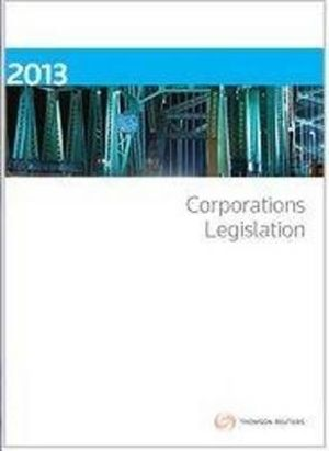 Cover of Corporations Legislation 2013