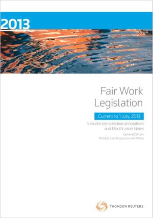 Cover of Fair Work Legislation 2013