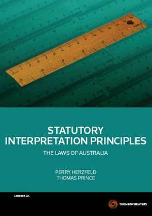 Cover of Statutory Interpretation Principles