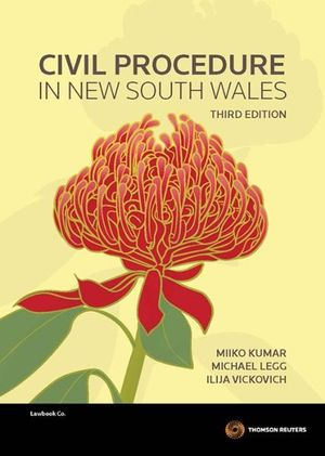 Cover of Civil Procedure in New South Wales