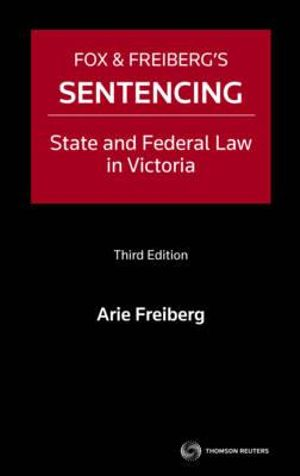 Cover of Fox and Freiberg's Sentencing