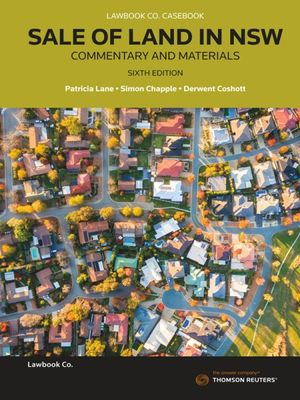 Cover of Sale of Land in NSW: Commentary and Materials