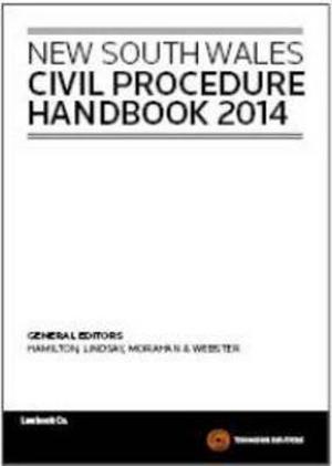 Cover of NSW Civil Procedure Handbook 2014