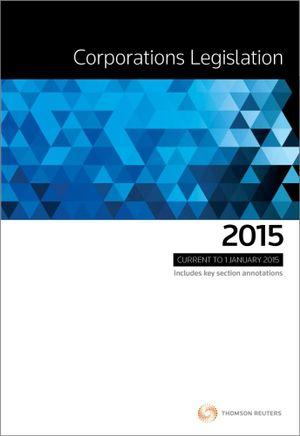 Cover of Corporations Legislation 2015