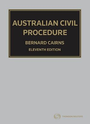 Cover of Australian Civil Procedure