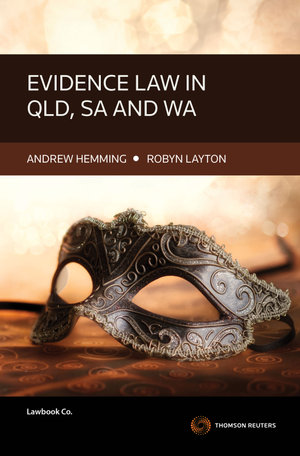 Cover of Evidence Law in QLD, SA and WA