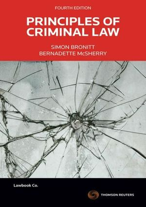 Cover of PRINCIPLES OF CRIMINAL LAW.
