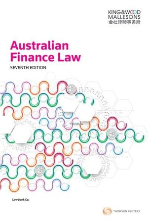 Cover of Australian Finance Law 7e