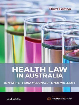 Cover of HEALTH LAW IN AUSTRALIA.